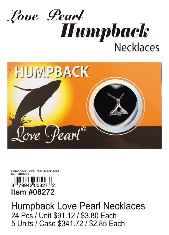 Humpback Love Pearl Necklace - 24 Pieces Unit