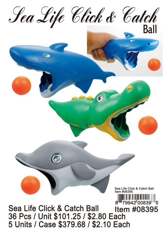Sea Life Click&Catch Ball - 36 Pieces Unit
