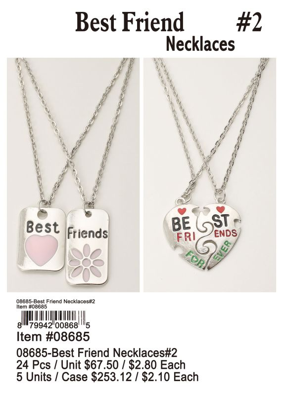 08685-Best Friend Necklaces#2 - 24 Pieces Unit