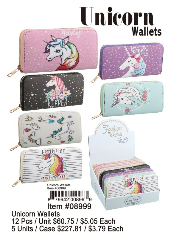 Unicorn Wallets - 12 Pieces Unit