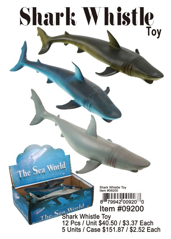 Shark Whistle Toy - 12 Pieces Unit