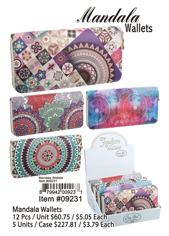 Mandala Wallets - 12 Pieces Unit