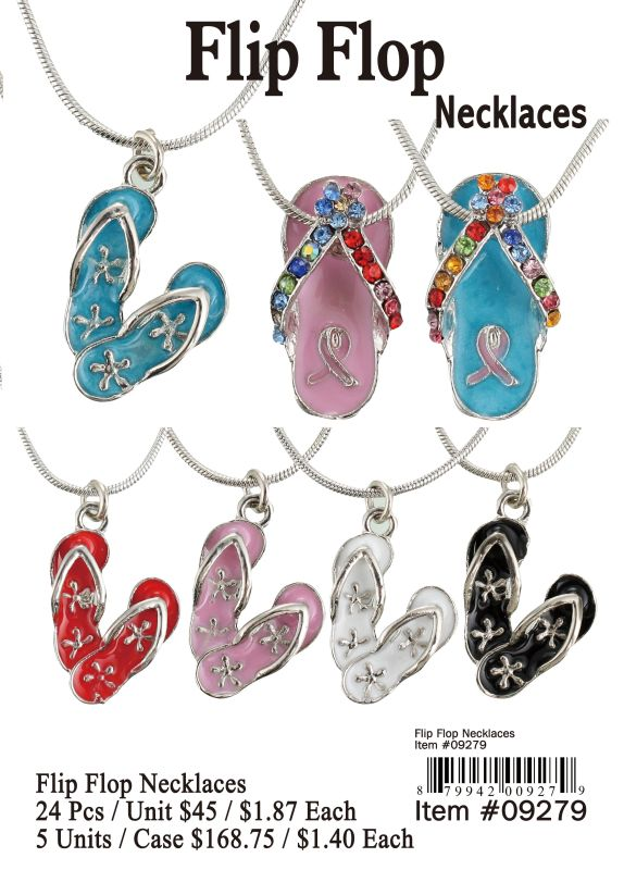 Flip Flop Necklaces - 24 Pieces Unit