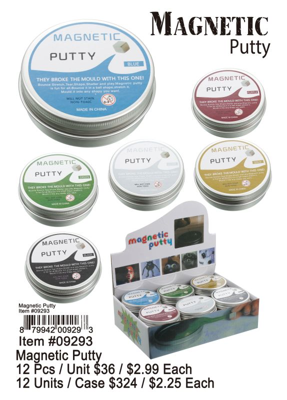 Magnetic Putty - 12 Pieces Unit