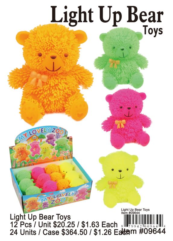 Light Up Bear Toys - 12 Pieces Unit