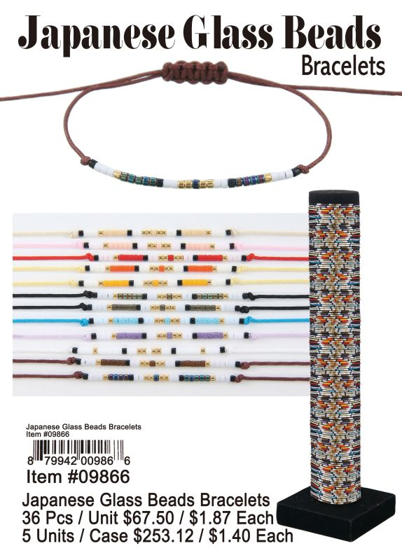 Japanese Glass Beads Bracelets - 36 Pieces Unit