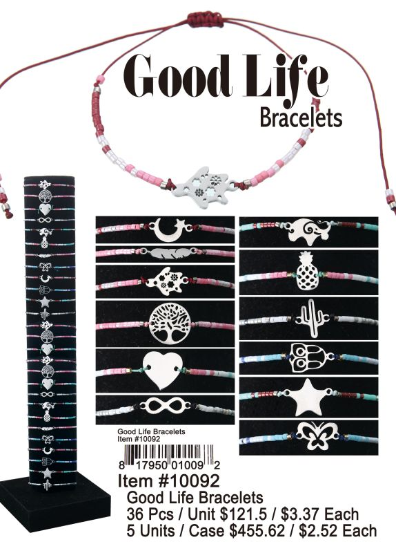 Good Life Bracelets - 36 Pieces Unit