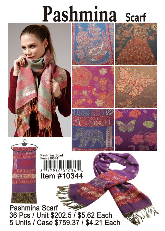 Pashmina Scarf - 36 Pieces Unit