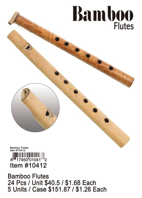 Bamboo Flutes - 24 Pieces Unit