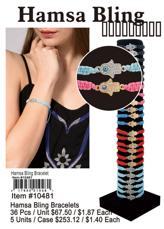 Hamsa Bling Bracelets - 36 Pieces Unit