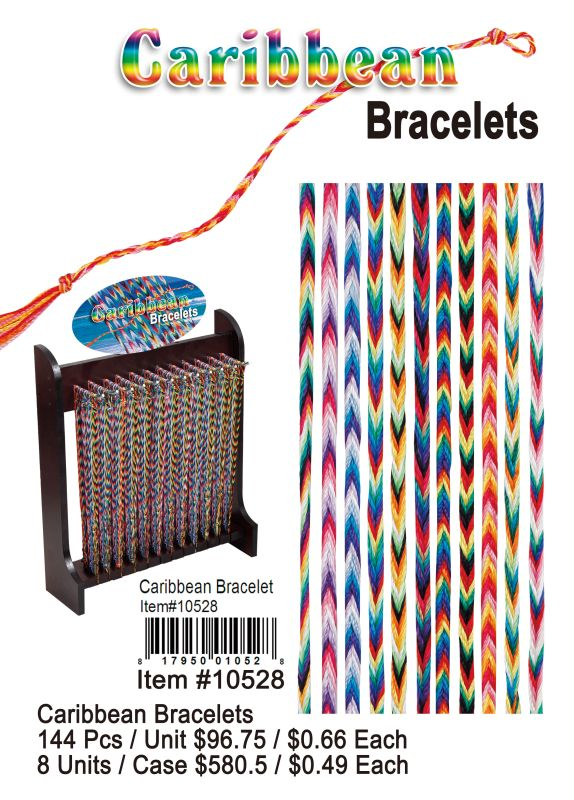 Carbbean Bracelets - 144 Pieces Unit
