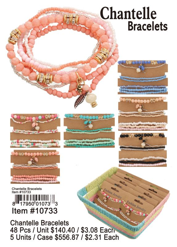 Chantelle Bracelets - 48 Pieces Unit