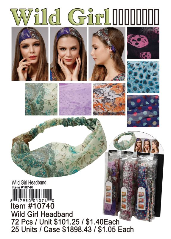 Wild Girl Headband - 72 Pieces Unit