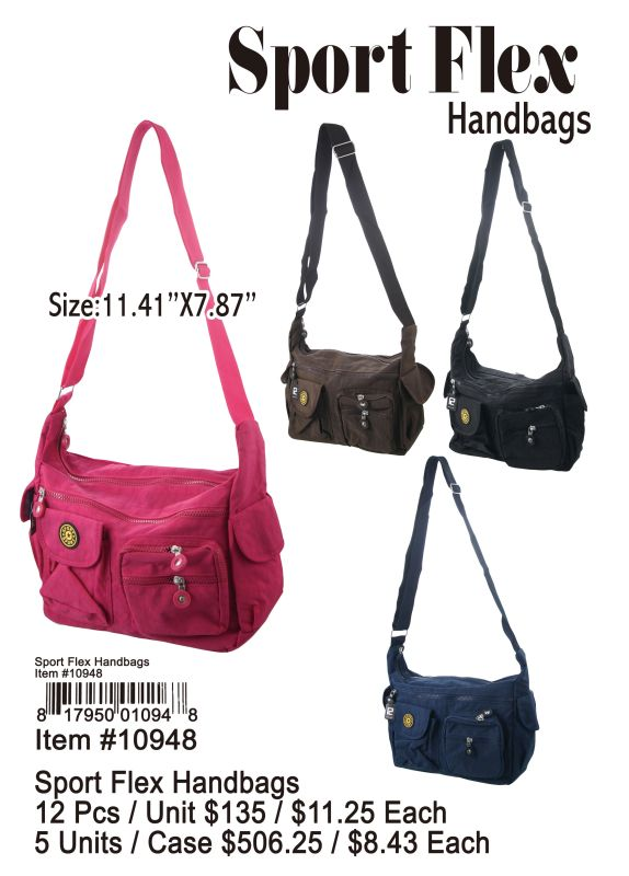 Sport Flex Handbag - 12 Pieces Unit