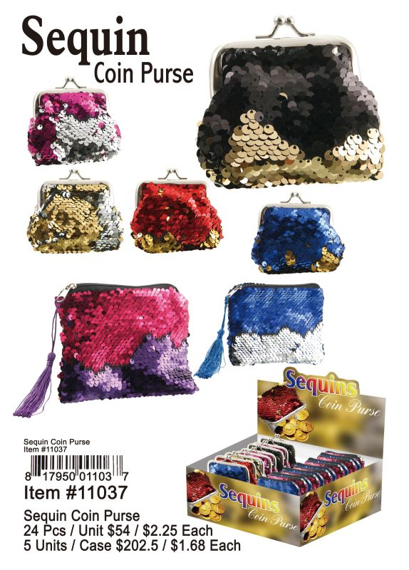 Sequin Coin Purse - 24 Pieces Unit