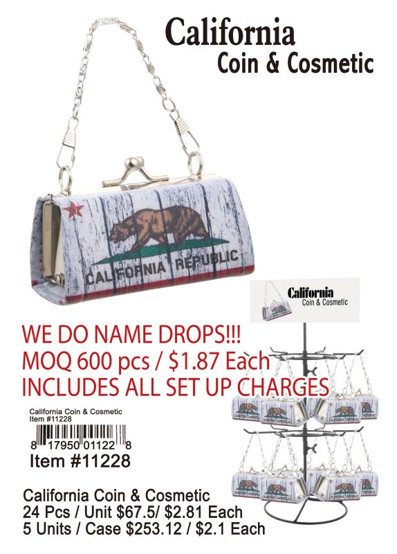 California Coin & Cosmetic - 24 Pieces Unit