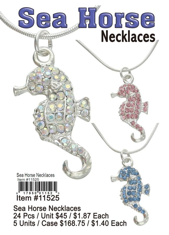 Sea Horse Necklaces - 24 Pieces Unit