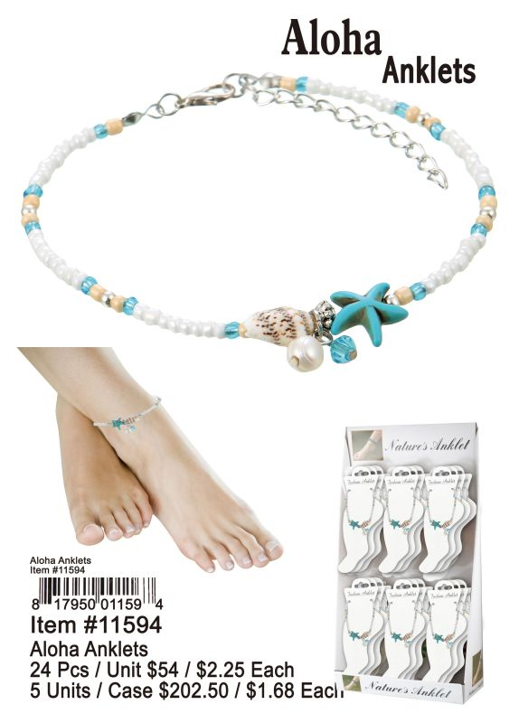 Aloha Anklet - 24 Pieces Unit