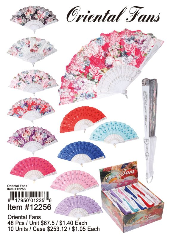 Oriental Fans - 48 Pieces Unit