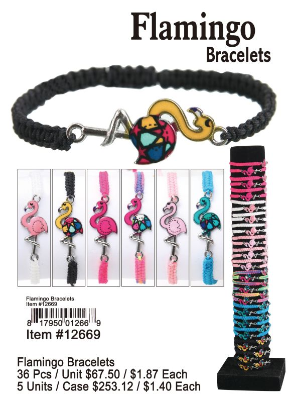 Flamingo Bracelets - 36 Pieces Unit