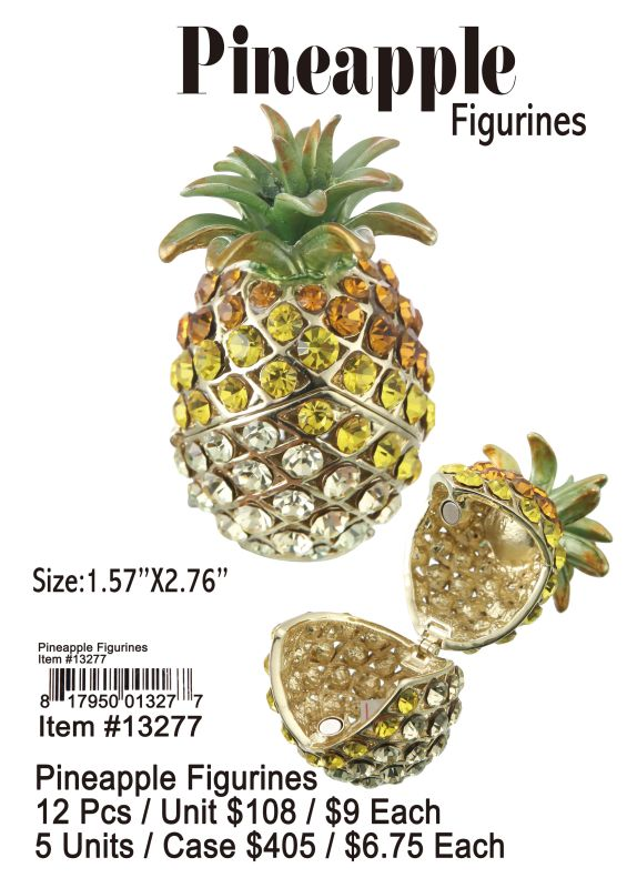 Pineapple Figurines - 12 Pieces Unit