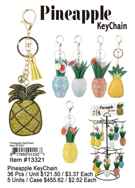 Pineapple Key Chain - 36 Pieces Unit