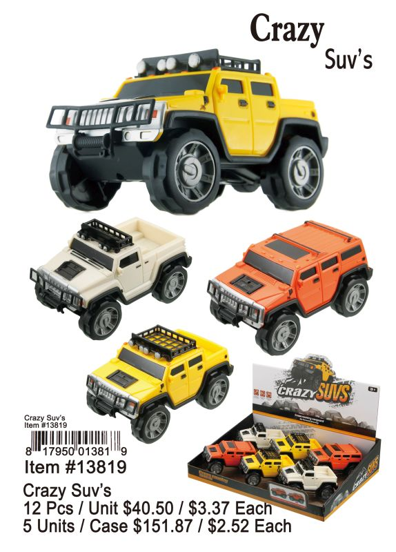 Crazy Suvs - 12 Pieces Unit