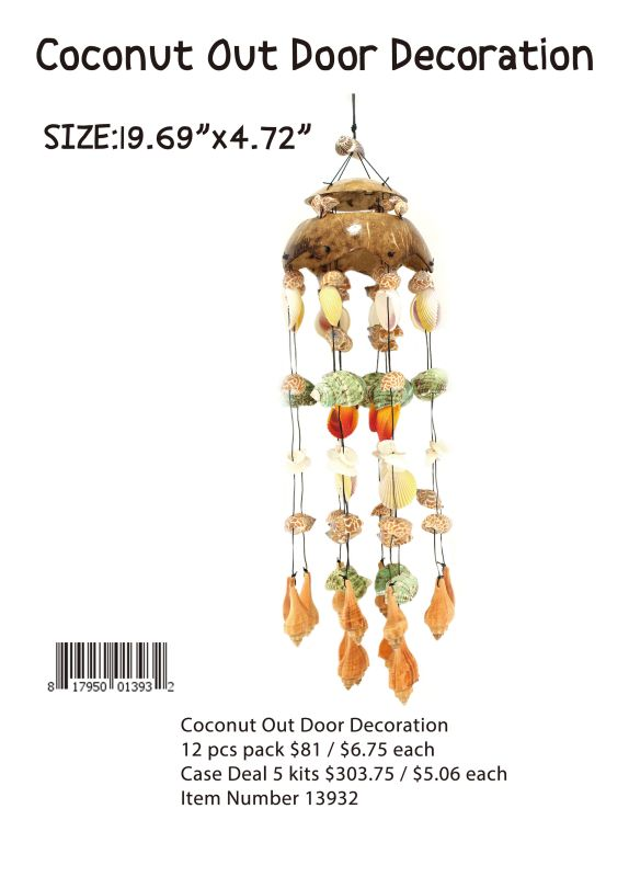 Coconut Out Door Decoration - 12 Pieces Unit
