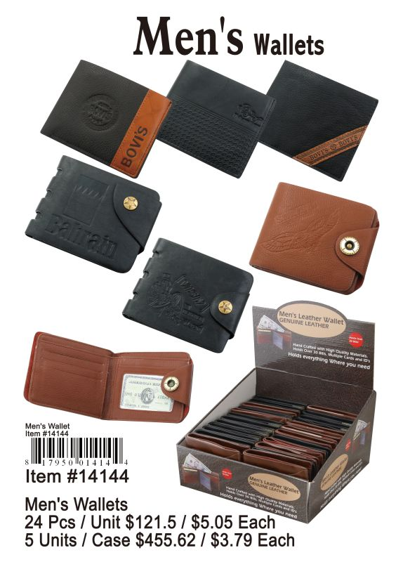Mens Wallets - 24 Pieces Unit