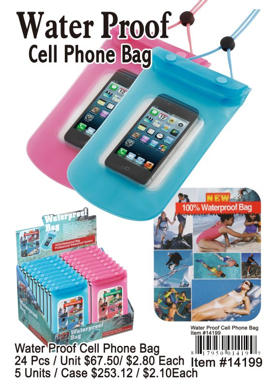 Water Proof Cell Phone Bag - 24 Pieces Unit