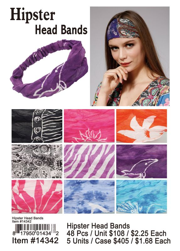 Hipster Head Bands - 48 Pieces Unit