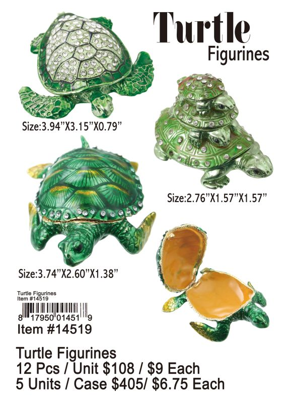 Turtle Figurines - 12 Pieces Unit