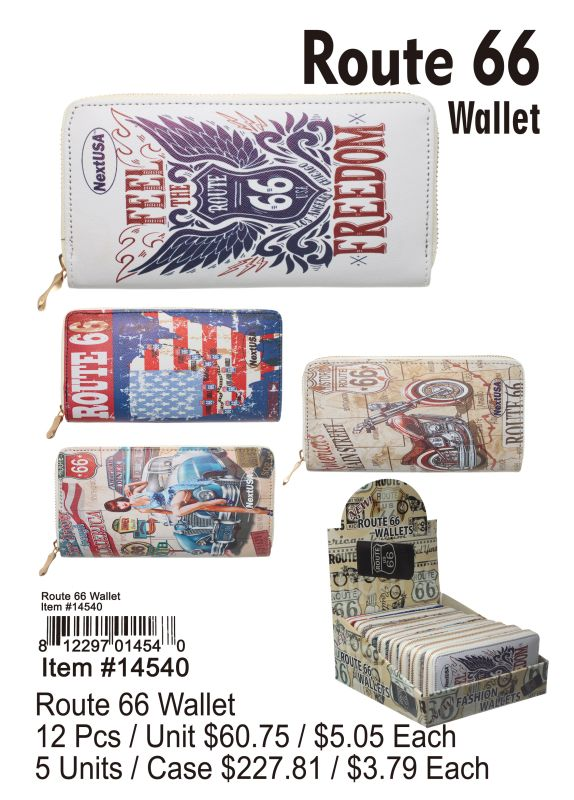 Route 66 Wallet - 12 Pieces Unit