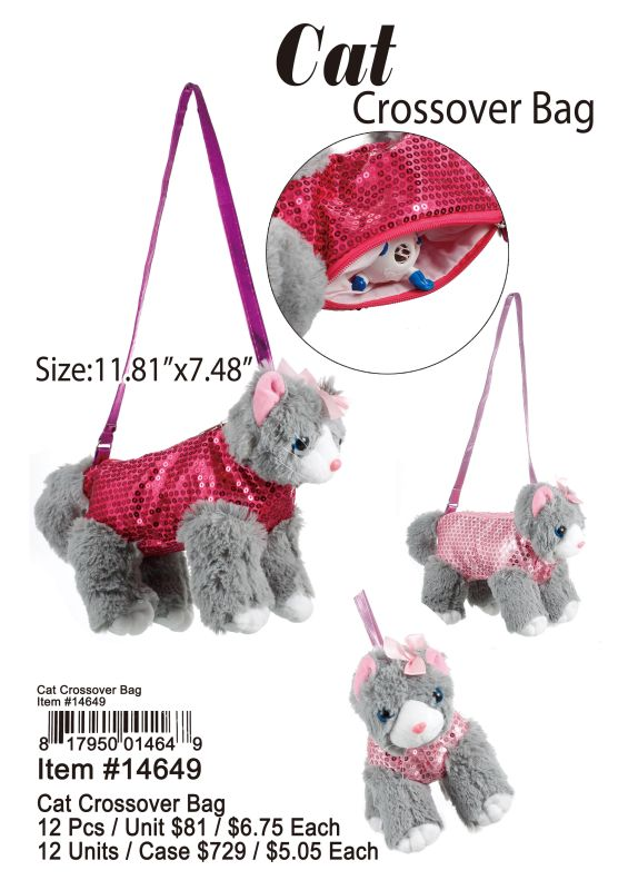 Cat Crossover Bag - 12 Pieces Unit