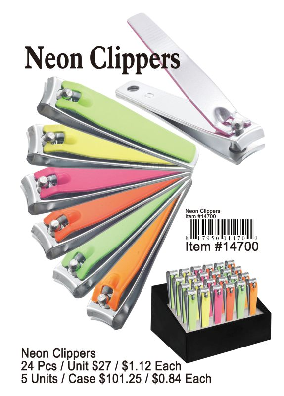Neon Clippers - 24 Pieces Unit