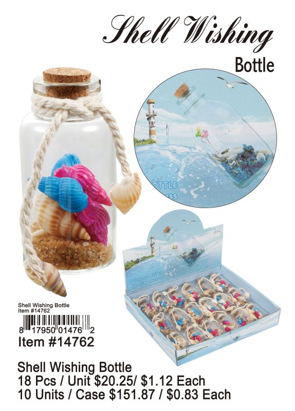 Shell Wishing Bottle - 18 Pieces Unit
