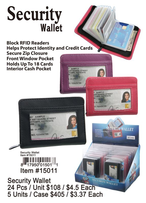 Security Wallet - 24 Pieces Unit