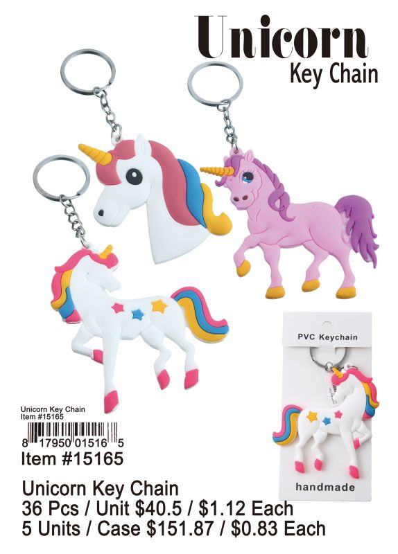 Unicorn Key Chain - 36 Pieces Unit