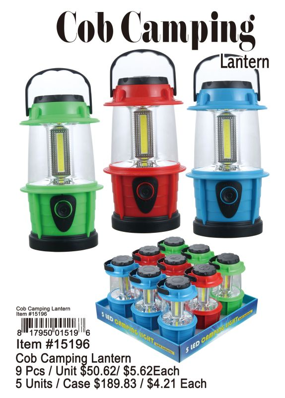 Cob Camping Lantern - 9 Pieces Unit