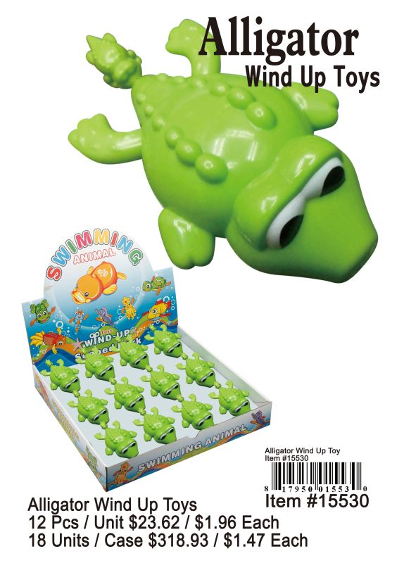 Alligator Wind Up Toys - 12 Pieces Unit