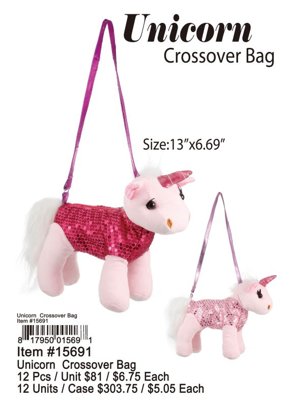 Unicorn Crossover Bag - 12 Pieces Unit