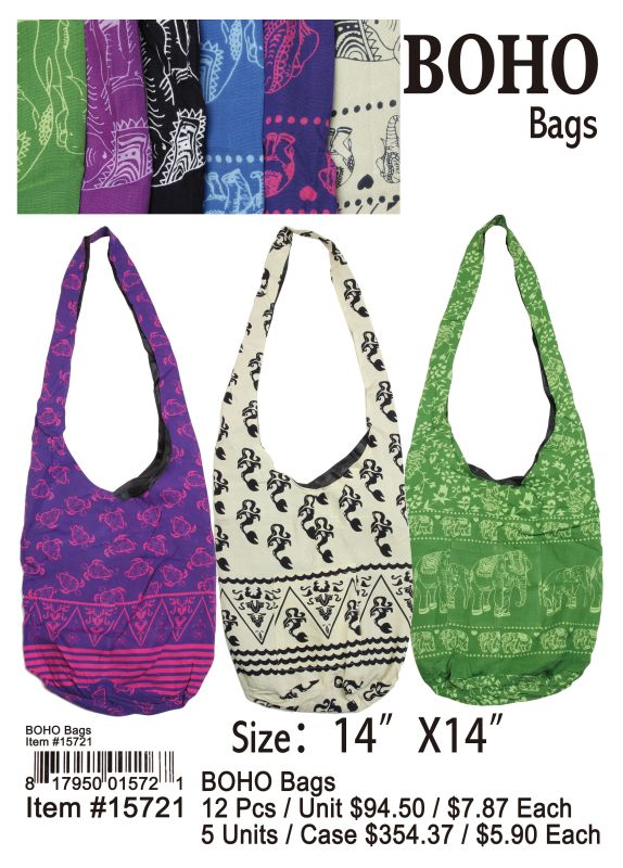 Boho Bags - 12 Pieces Unit