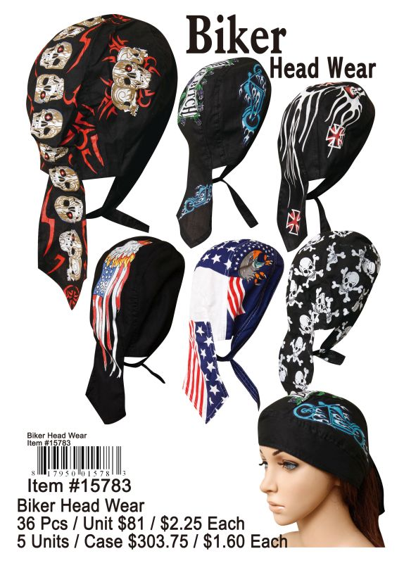 Biker Head Wear - 36 Pieces Unit