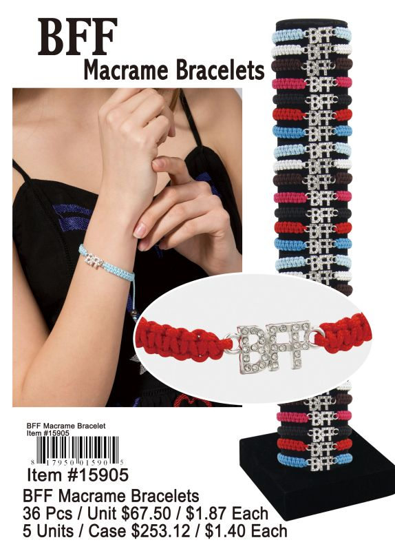 Bff Macrame Bracelets - 36 Pieces Unit