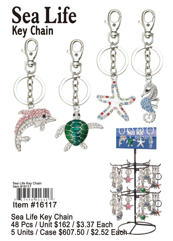 Sea Life Key Chain - 48 Pieces Unit