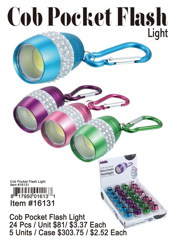Cob Pocket Flash Light - 24 Pieces Unit