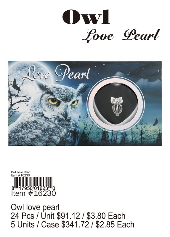 Owl Love Pearl - 24 Pieces Unit