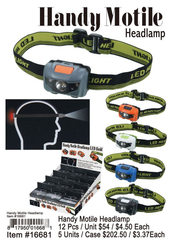 Handy Motile Headlamp - 12 Pieces Unit
