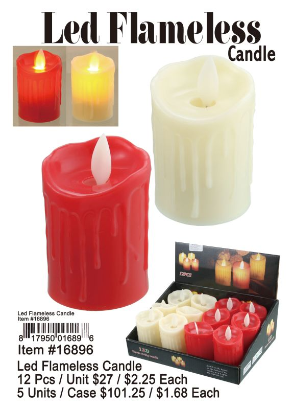 Led Flameless Candle - 12 Pieces Unit