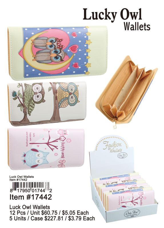 Luck Owl Wallets - 12 Pieces Unit